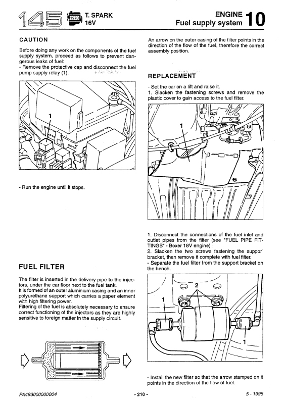 [DIAGRAM_4FR]  Fuel Filter - Alfa Romeo 145 - 146 Forum | Alfa Romeo Fuel Filter |  | Alfa 145 Forum